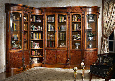 Infinity Furniture Louis Traditional Combined Bookcase Wall Unit Set