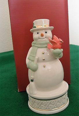 Lenox Christmas Snowman Wonderland Wishes Musical With Box Great Shape!