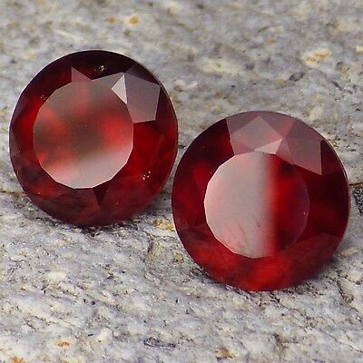 HESSONITE GARNET-MOZAMBIQUE 7.15Ct TW MATCHING PAIR-COLLECTOR GRADE GEMSTONES