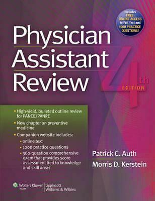 Physician Assistant Review by Patrick Auth (English) Paperback Book Free Shippin