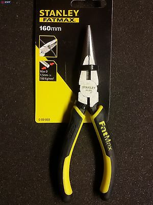 160 mm Stanley Fatmax 0-89-869 Long Nose Plier Noir//jaune