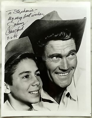 """8"""" by 10"""" Chuck Connors & Johnny Crawford Photo signed Johnny Crawford Autograph"""