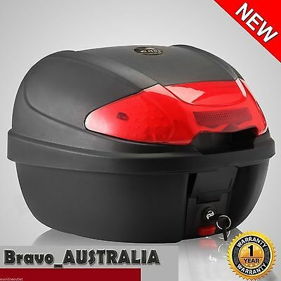 Lockable 28L Motorbike Rear Tail Bag Case Universal Scooter Storage Box