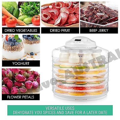 2 in 1 Food Dehydrator Fruit Jerky Dryer and Yogurt Maker White with 7 Trays
