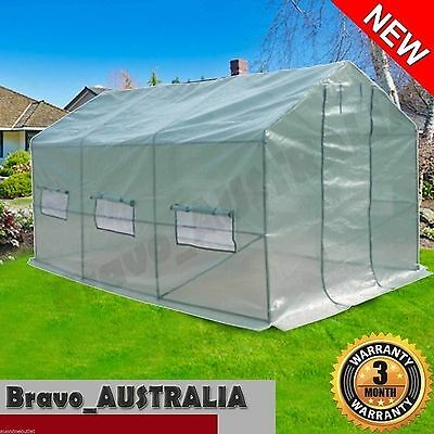NEW Large Triangle Roof Plant Greenhouse Green Hot House 3.5m x 2.0m x 2.0m