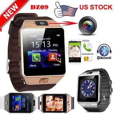 DZ09 Bluetooth Smart Watch Camera Phone Mate GSM SIM Card For iPhone IOS Android