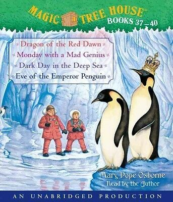 Magic Tree House Books 37-40: Dragon of the Red Dawn; Monday with a Mad Genius;