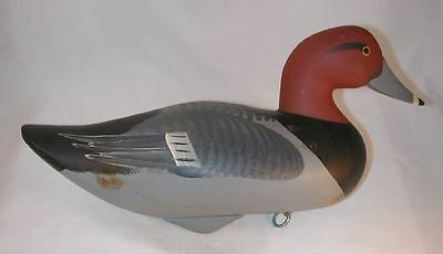 Contemporary Carved Wood Redhead Duck Decoy By Jim Pierce from Havre De Grace MD