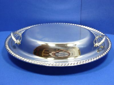 International Silver Serving Dish & Lid Cover Oval Hand Crafted Silverplate