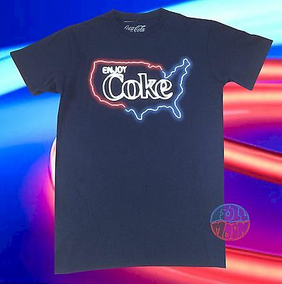 New Coke-Cola Neon Sign Country Classic Soda Retro Mens T-Shirt