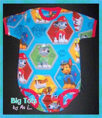 Adult Baby Paw Patrol BLUE Fleece onesuit   *Big Tots by Ms L
