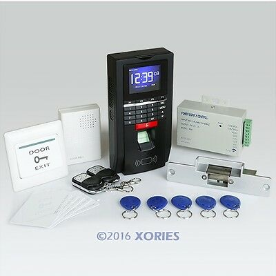 Full Fingerprint And RFID Card Access Control Kit+ 2Remote Controls+ Doorbell
