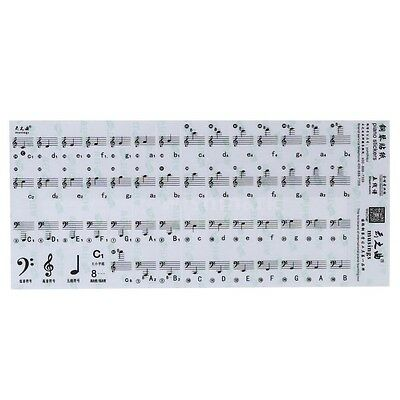 Transparent 49 61 88 Keys Electronic new Piano Stave Professional Note Sticker