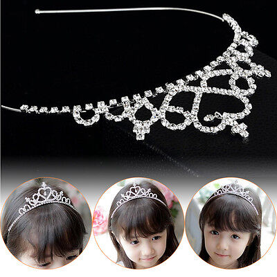 Girl Princess Hairband Child Party Bridal Crown Headband Crystal Diamond Tiara Z
