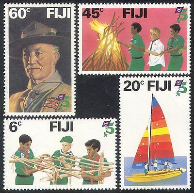 Fiji 1982 Baden Powell/Scouts/Scouting/Youth/Boat/Camp Fire 4v set (n39969)