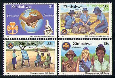 Zimbabwe 1987 Girl Guides/Fire/Youth/Leisure 4v n30159