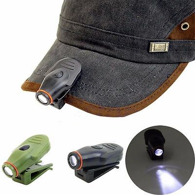 Super Bright Clip-on LED Cap Hat Light Headlamp Headlight for Hiking Camping