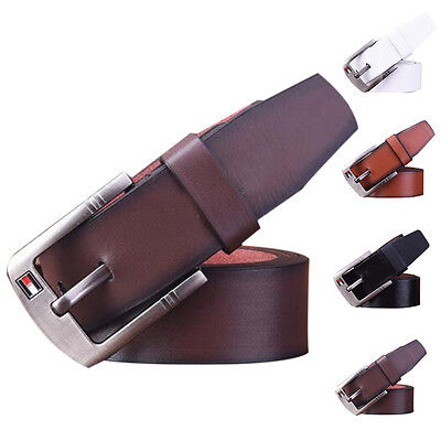 Mens Cow Genuine Leather Strap Male Belts For Men Cintos Masculinos Plate Buckle