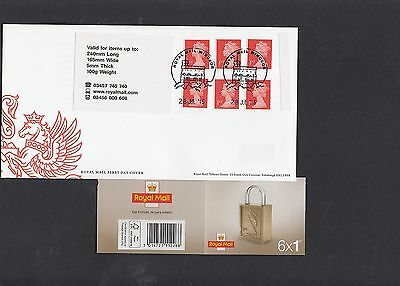 GB 2016  Machin Definitive 6x1st stamp M16L MSIL booklet new cover FDC Windsor p