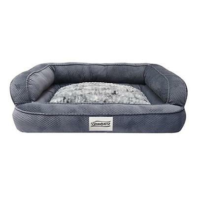 Beautyrest 5249-006 Colossal Rest Large Dog Bed, Corduroy Silver