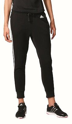 adidas Damen Fitness Sport Trainingshose Essentials 3S Tapered Pant schwarz