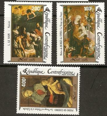 Central African Republic Sg1160/2 1985  Christmas Mnh