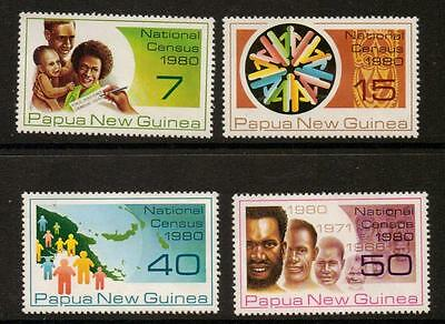 Papua New Guinea Sg389/92 1980 National Census   Mnh
