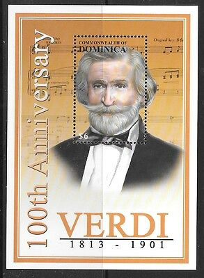 Dominica Sgms3077 2001 Death Centenary Of Giuseppe Verdi Mnh