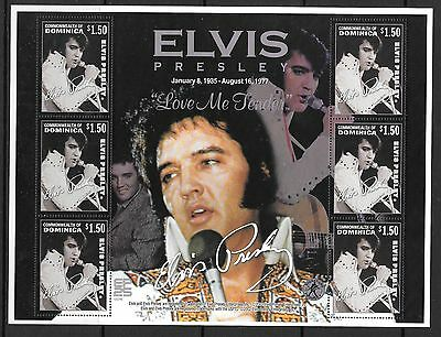 DOMINICA SG3287a 2002 25th DEATH  ANNIV OF ELVIS  SHEETLET  MNH