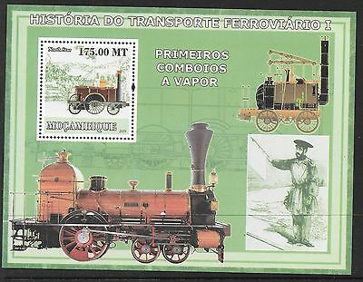 Mozambique History Of Trains (4) Mnh