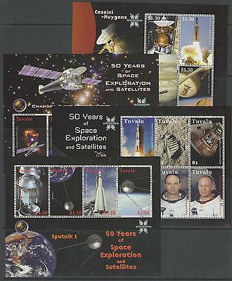 Tuvalu Sg1338/59 2008 Space 5 Sheetlets Mnh