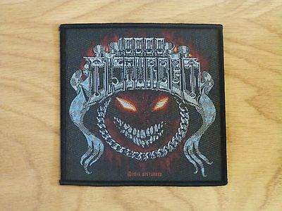 Disturbed - Chrome Smiley (New) Sew On W-Patch Official Band Merchandise