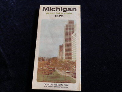 Vintage 1973 Official Michigan Highway State Road Map MI