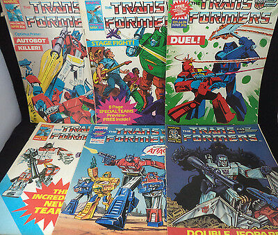TRANSFORMERS Marvel UK Six Early Issues 39 54 63 69 70 75 Bundle Collection Lot