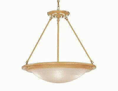 Designers Fountain 5442-PB Polished Brass 3 Light Bowl Chandelier/Pendant