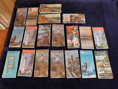 Vintage Official Michigan MI Map Lot of 19