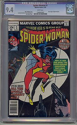 Spider-Woman #1 Cgc 9.4 White Pages Marvel