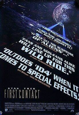 Star Trek: First Contact (1996) US ADV One sided Poster Original 27 x 40 inches