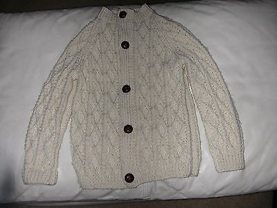 Kids Fishermans Sweater Cardigan Leather Buttons