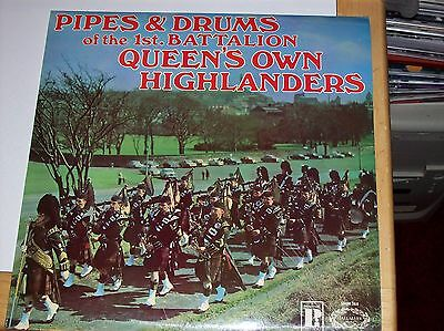 PIPES & DRUMS OF THE 1st BATTALION QUEEN'S OWN HIGHLAND (1971 HALLMARK LP)