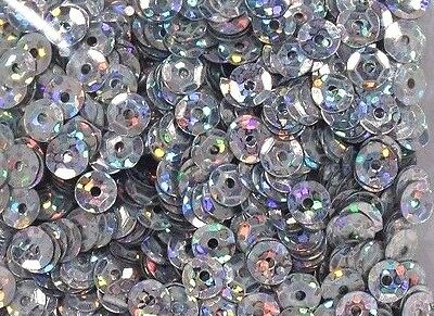 8MM TANZANITE PURPLE HOLOGRAM FACETED CUP SEQUINS PAILLETTE LASER METALLIC!