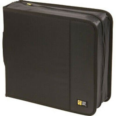 Case Logic CDW-208 Black Nylon CD Wallet-Holds 208 CD's or 104 w/notes [New Acce