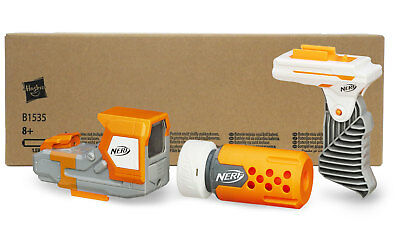 Nerf Modulus Stealth Kit in Recycling-Verpackung - Lauf, Red Dot und Handgriff