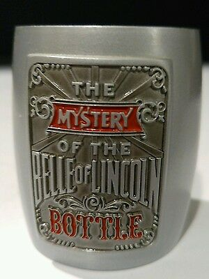 JACK DANIELS WHISKEY / The Mystery of the Belle Of Lincoln Bottle Shot Glass