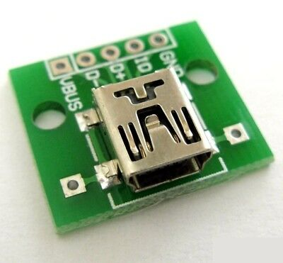 Module PCB Mini USB femelle / mini USB Female connector module board PCB plate