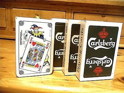 LOT of 3 DECKS of CARLSBERG PLAYING CARDS~BRAND NEW & SEALED~FREE PRIORITY SHIP
