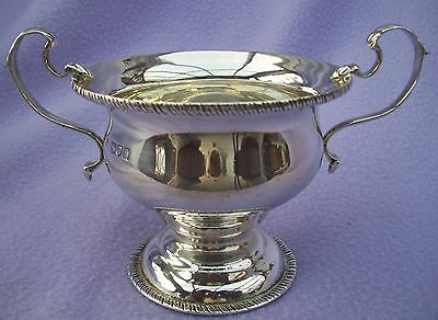 VICTORIAN NOUVEAU SOLID SILVER - FOOTED SUGAR BOWL - JW over FCW- LONDON 1898