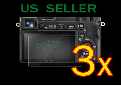3x Clear LCD Screen Protector Guard Cover Film For Sony Alpha A5000 A6000 Camera