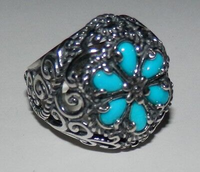 Carolyn Pollack Signature Sleeping Beauty Turquoise Ring Size 7