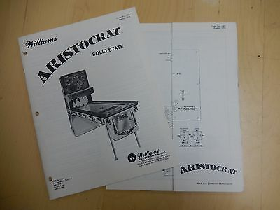 Original Williams Aristocrat Shuffle Alley Instruction Manual and Schematics
